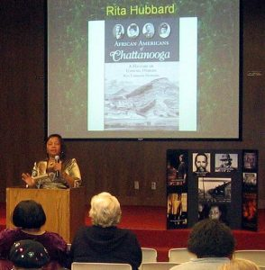 Rita at Library Lecture Booksigning, February 2008, Rita Writes History